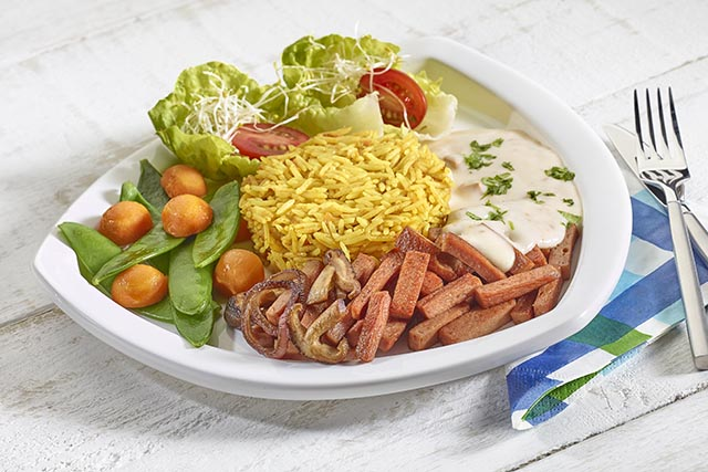 salad with halal meat